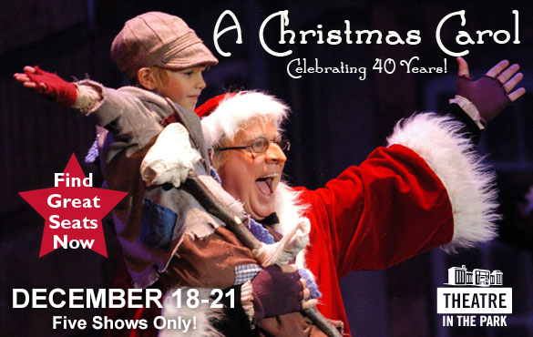 A Christmas Carol Celebrating 40 Years Sign