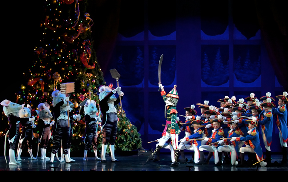 Nutcracker scene  Mice standing in front of Soldiers